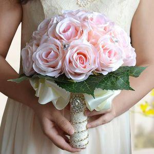 FLEUR ARTIFICIELLE ROSE 27*25cm bouquet de fleur boule de rose artifi