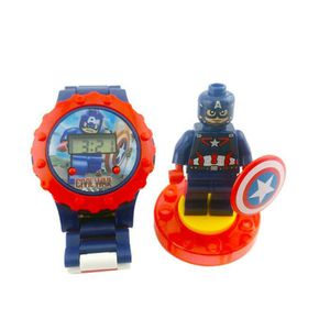 MONTRE Avengers Captain America jouet Blocs Regarder les