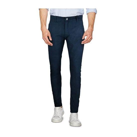 D1126 Pantalon chino slim pour homme 3-D