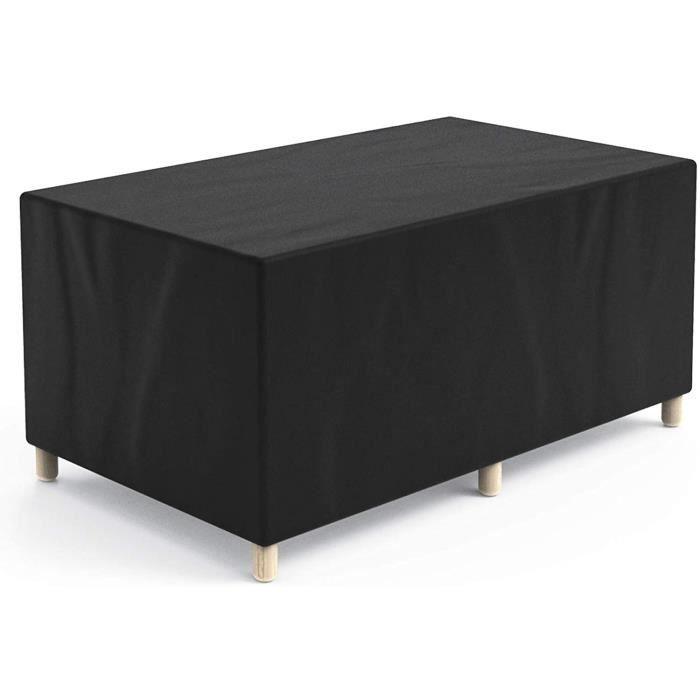 Hongtellor Housse de Protection pour Table de Jardin rectangulaire en Tissu Oxford 420D imperméable et Coupe-Vent 170 x 94 x 70 cm