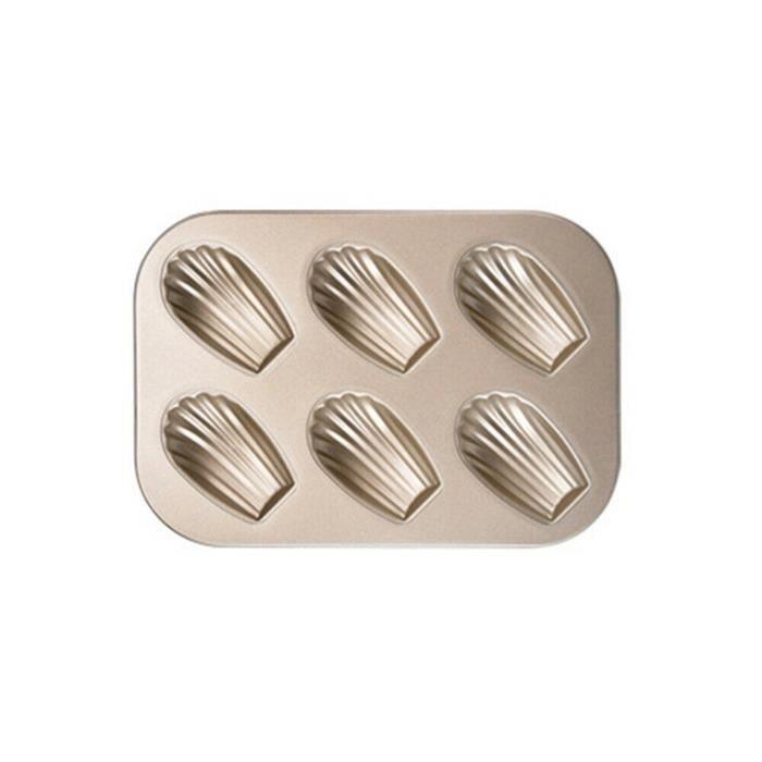 Mini moule à gâteau Madeleine, moule à biscuits ovale antiadhésif à 6 cavités - hanshiko 356