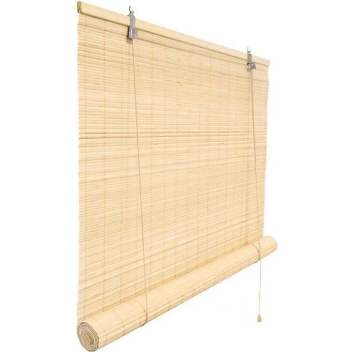 Store en bambou - naturel, 90x220 cm