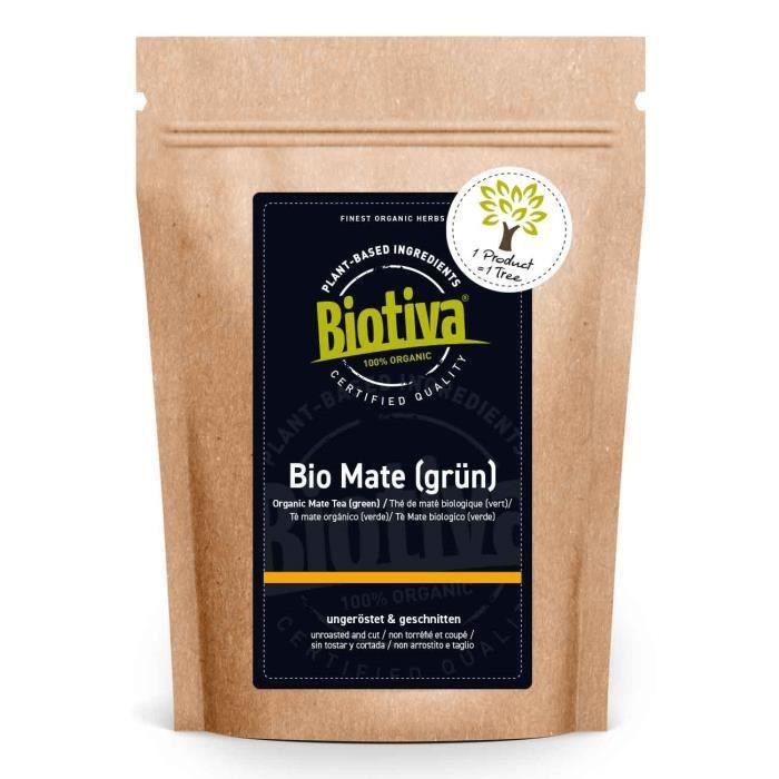 Thé bio Maté 500g - Thé vert mate non torréfié - feuilles contenant de la caféine yerba mate - l'agriculture biologique -