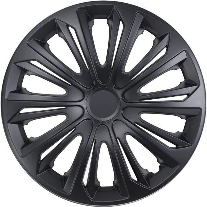 Enjoliveurs de roues STRONG 14 - couleur noir mat lot de 4 pièces