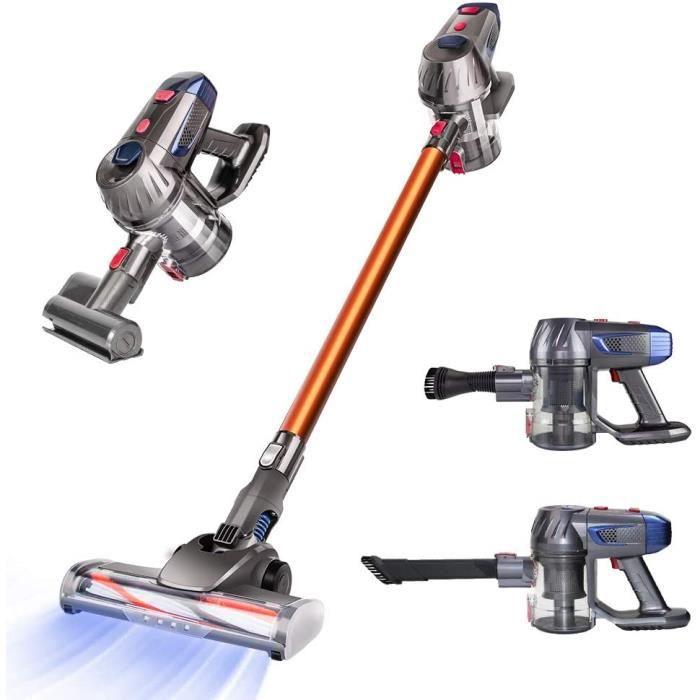 Aspirateur sans fil Cordless Vacuum Cleaner, 10Kpa Stick Vacuum, 4 in 1 Handheld Bagless Vacuum Cleaner, Lightweight Upright Vacuum
