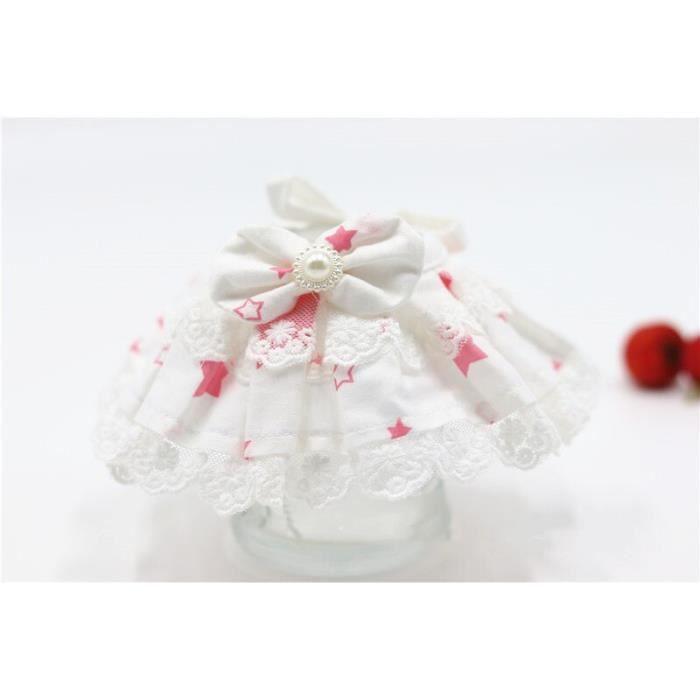 Collier bandana,Bavoir pour animaux de compagnie coton salive serviette dentelle bavoir chien chat dentelle - Type Bourgogne-S