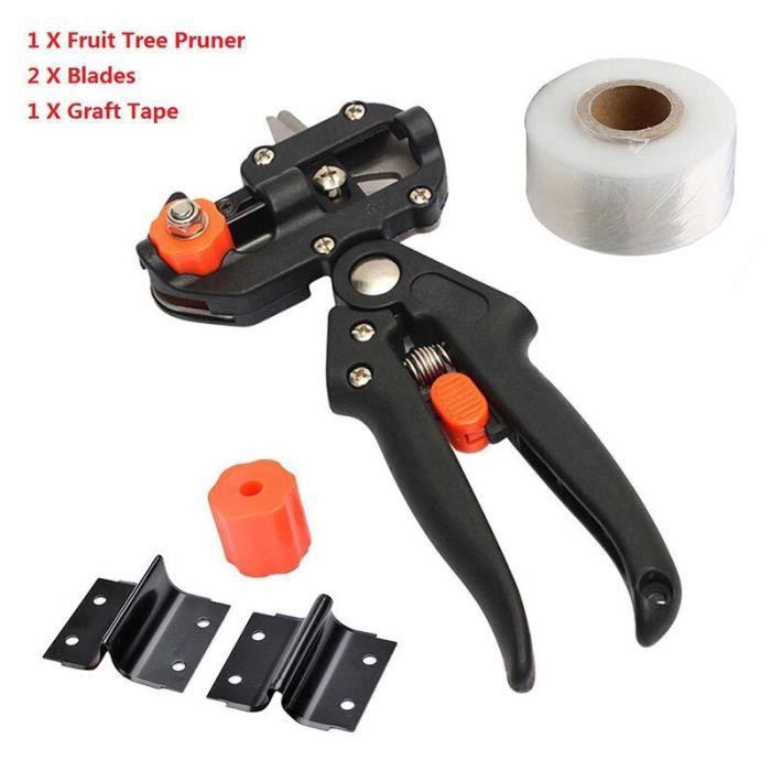 Machine à greffer outils de jardin arbre fruitier sécateur avec 2 lames outils de greffe d'arbre sécateur ciseaux ou*YI5219