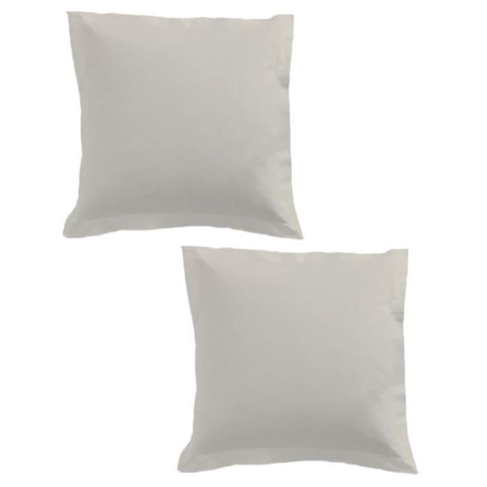 TODAY Lot de 2 taies d'oreiller 75x75cm Ivoire