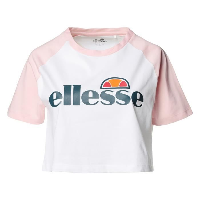 ELLESSE T-shirt manches courtes SERENELLA CROPPED - Femme - Rose