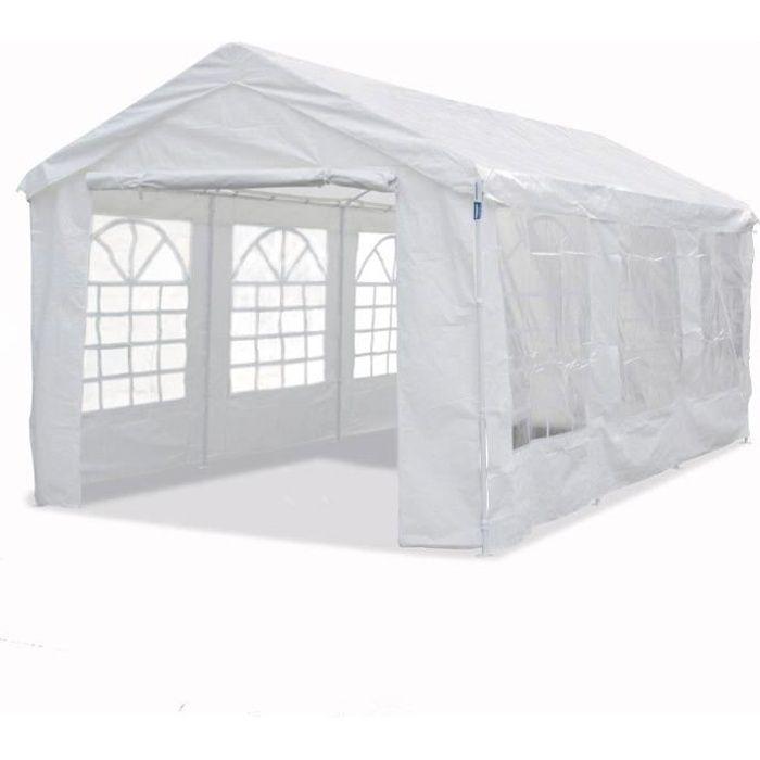 Tente de réception -Celia- en polyéthylène - 17.11 m² - 590 x 290 x 270/200 cm
