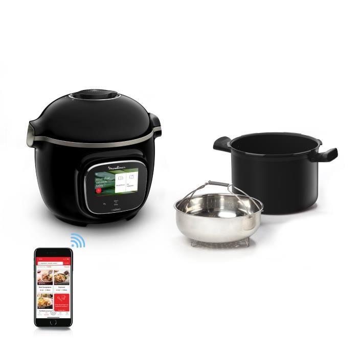 MOULINEX CE902800 Cookeo Touch Wifi Multicuiseur intelligent Haute pression Connecté Ecran tactile 250 recettes 13 modes de cuisson