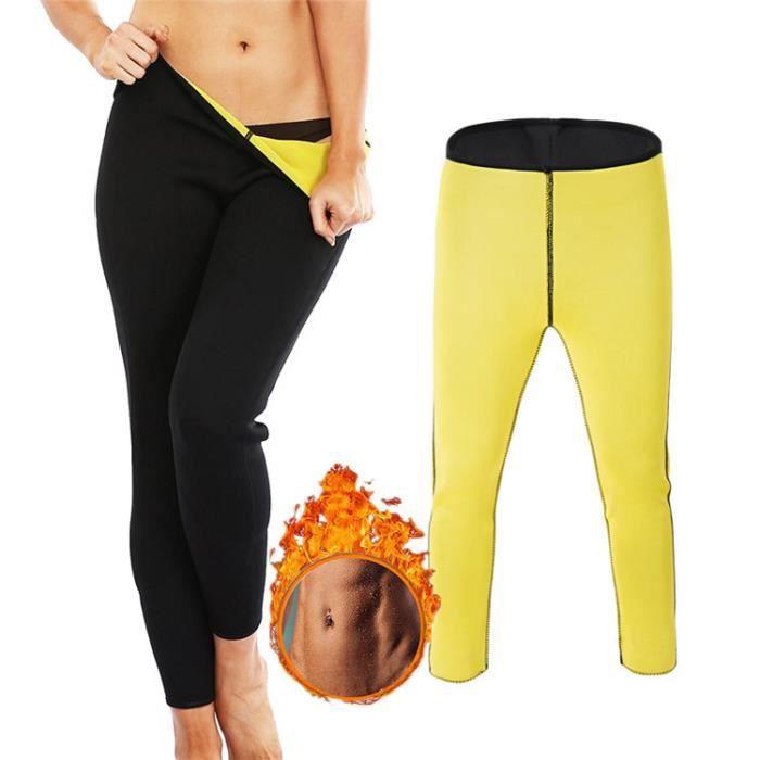 9Pcs Pantalon de Yoga Legging de Sudation pour Femme Sauna Pantalon Corsaire Favorise la Transpiration Amincissant Pantacourt Sport