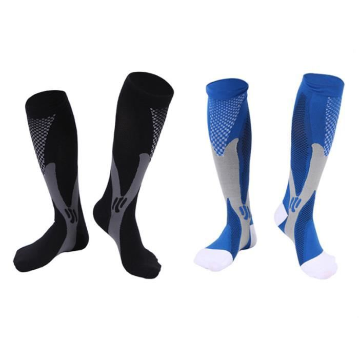 2 paires de chaussettes de compression pour hommes pour femmes, bas de genou, de course RECOVERY SOCKS - COMPRESSION SOCKS