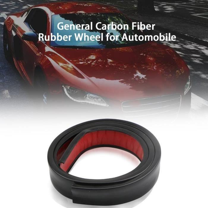 Fibre de carbone élargissant le protecteur de garniture de sourcil de roue d'évasement d'aile de voiture 3.8CMx1.5CM