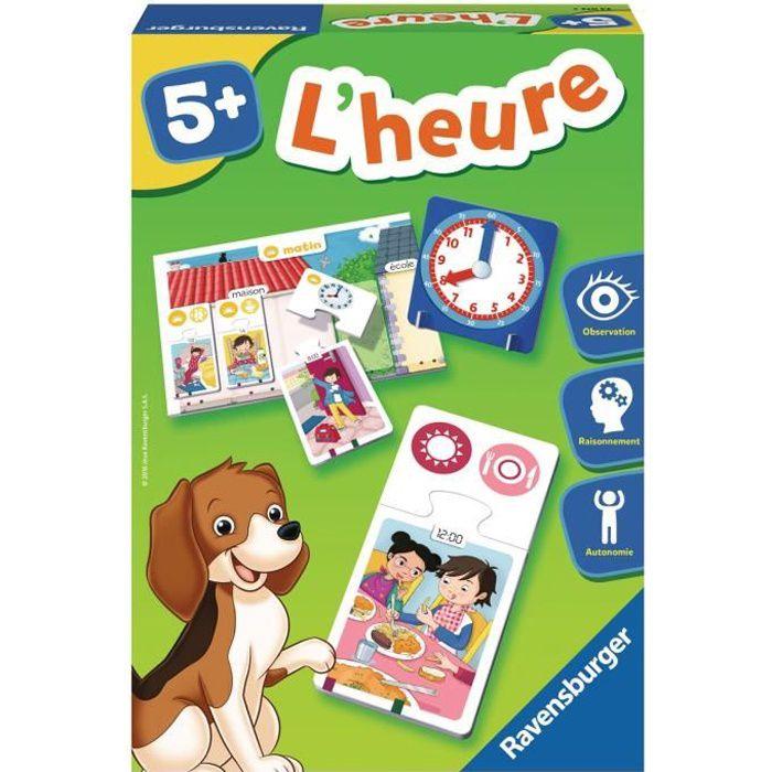 RAVENSBURGER Jeu éducatif puzzle L'heure - 5 ans et +