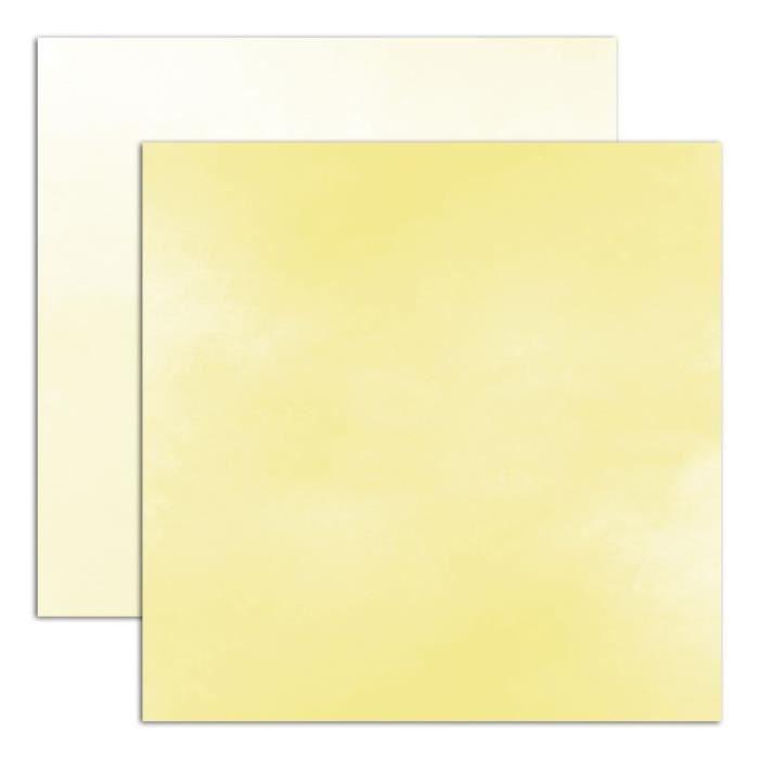 Papier uni 30x30 'Toga - Aquarelle' Jaune
