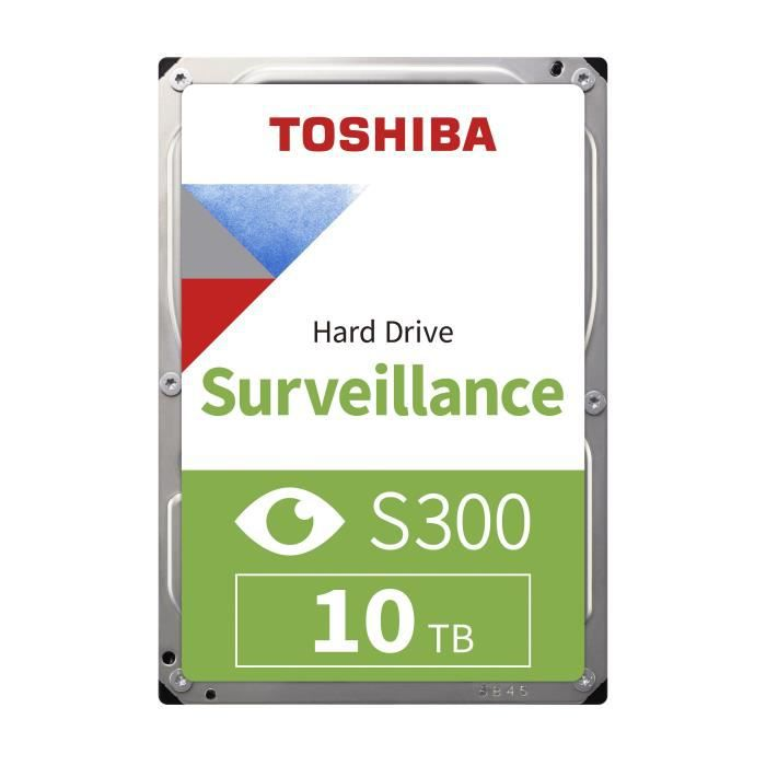TOSHIBA - Disque dur Interne - S300 - 10To - 7 200 tr/min - 3.5- (HDWT31AUZSVA)