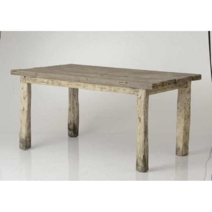Table à manger en bois vieilli Pilotis Brut - Achat / Vente ...