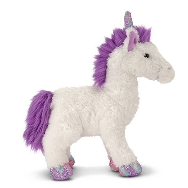 peluche licorne blanche misty 29 cm achat vente peluche cdiscount. Black Bedroom Furniture Sets. Home Design Ideas
