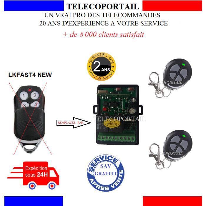 PRO 800 TELECOMMANDE COPIEUSE LIKE IT LKFAST4 PORTE DE GARAGE SERIE PRO 60 600