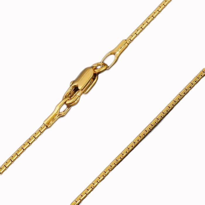 CHAINE DE COU SEULE femmes Hommes Collier chaîne de serpents 18k jaune