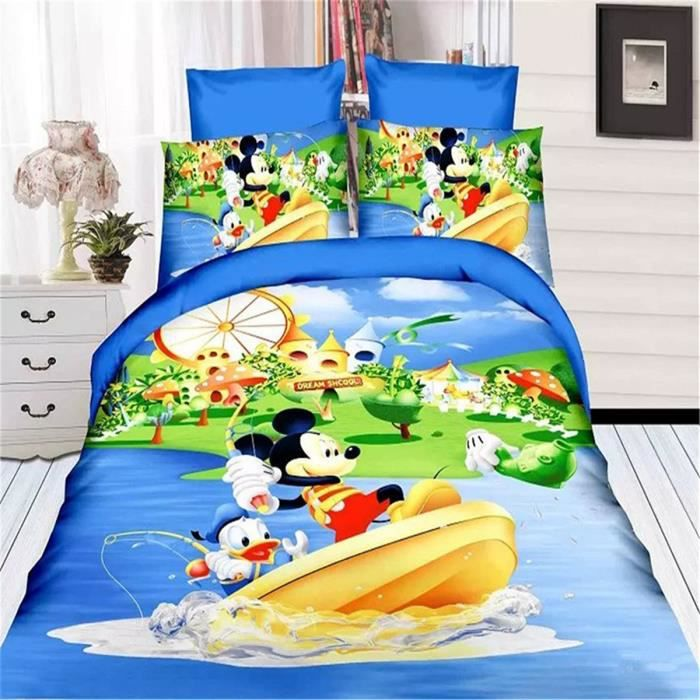 l m mickey pirate adventure enfant parure de couette parure de lit 1 housse de couette 140x 200. Black Bedroom Furniture Sets. Home Design Ideas