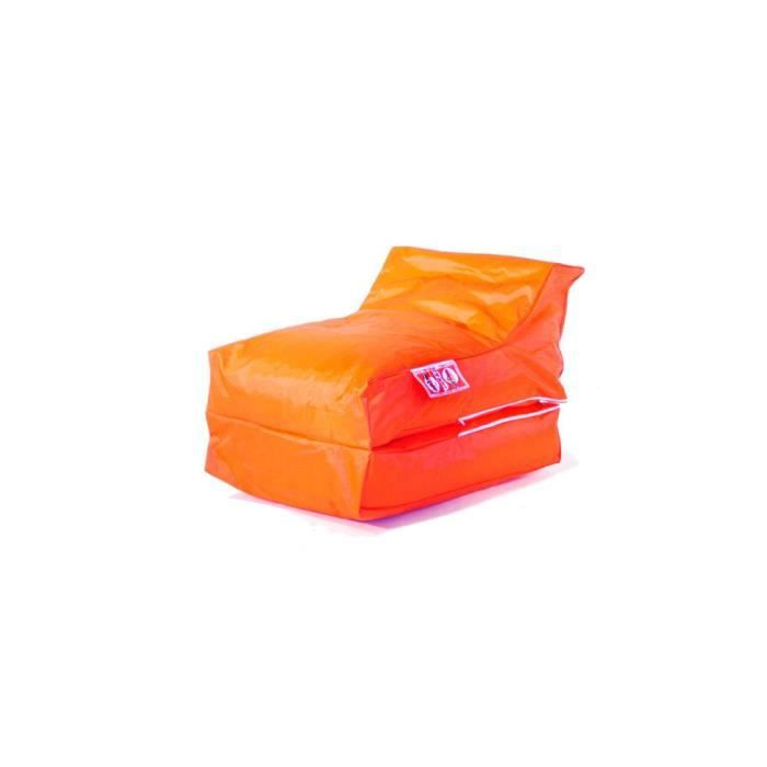 housse de pouf chauffeuse lounger orange achat vente pouf poire orange cdiscount. Black Bedroom Furniture Sets. Home Design Ideas