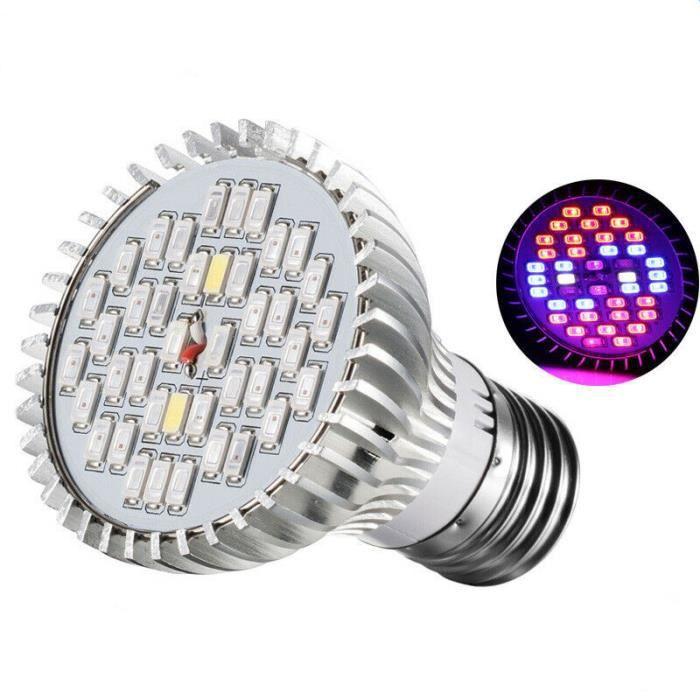 18 W DEL Grow Light E27 Croissance Ampoule Lampe Pour Plante Hydroponique Spectre Complet Uv