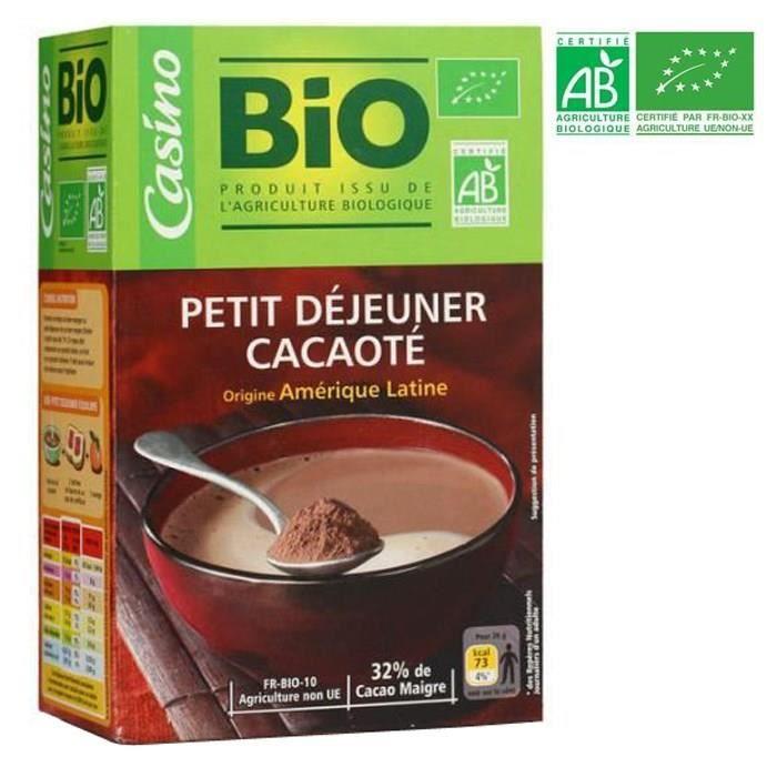 CACAO - CHOCOLAT CASINO Poudre chocolat - Bio - 500g