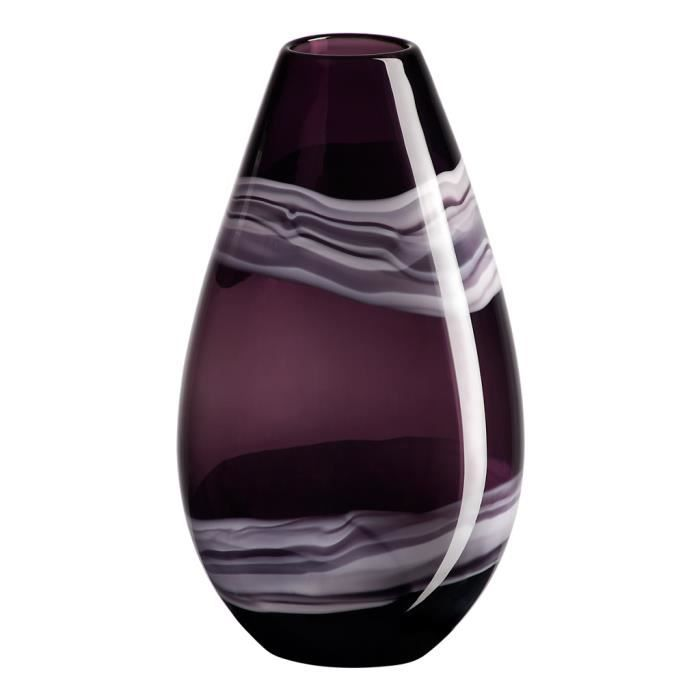 vase verre lunara violet 33 cm achat vente vase soliflore verre cdiscount. Black Bedroom Furniture Sets. Home Design Ideas