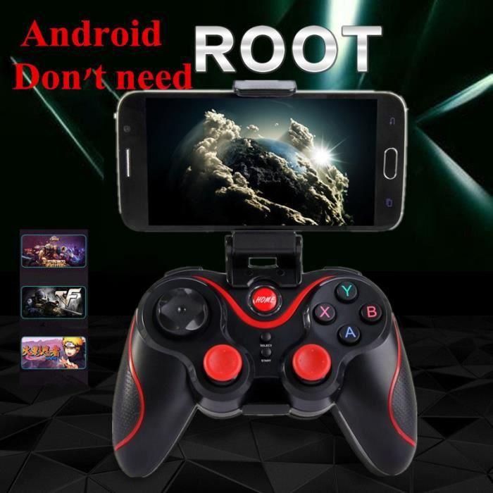 RONSHIN Smart pour TSW05 Manette de Jeu sans Fil Compatible avec Switch PS4 PS3 PC Android TV Box Bluetooth Design Ergonomique Boutons sensibles /¨/¤ la Pression