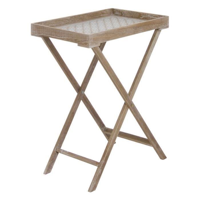 TABLE DE CUISINE  Home Decor - Table avec Plateaux en Bois 58 cm- 27