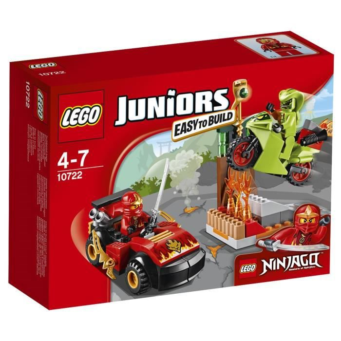 assemblage construction lego juniors 10722 lattaque du serpent ninjago