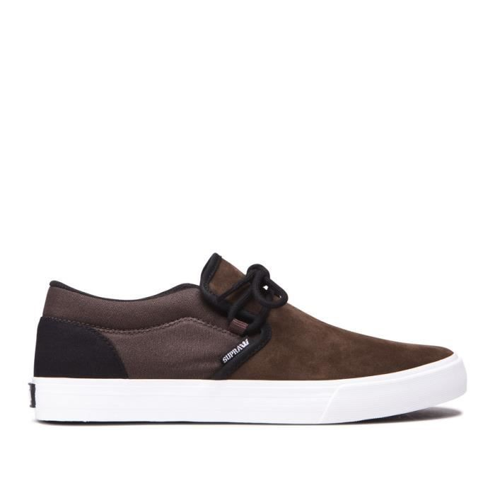 Chaussures SUPRA CUBA demitasse black white