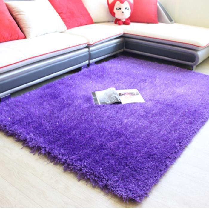 Tapis de sol de salon violet Design Anti-dérapant Totalement sans danger  150 * 210 cm