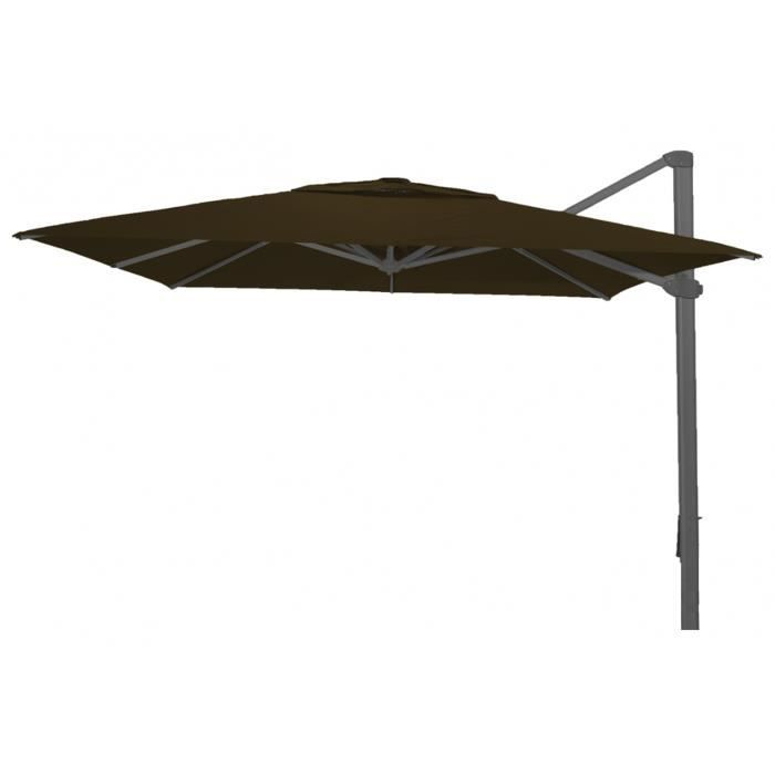 parasol d port rectangle taupe anti uv 300x400cm achat. Black Bedroom Furniture Sets. Home Design Ideas