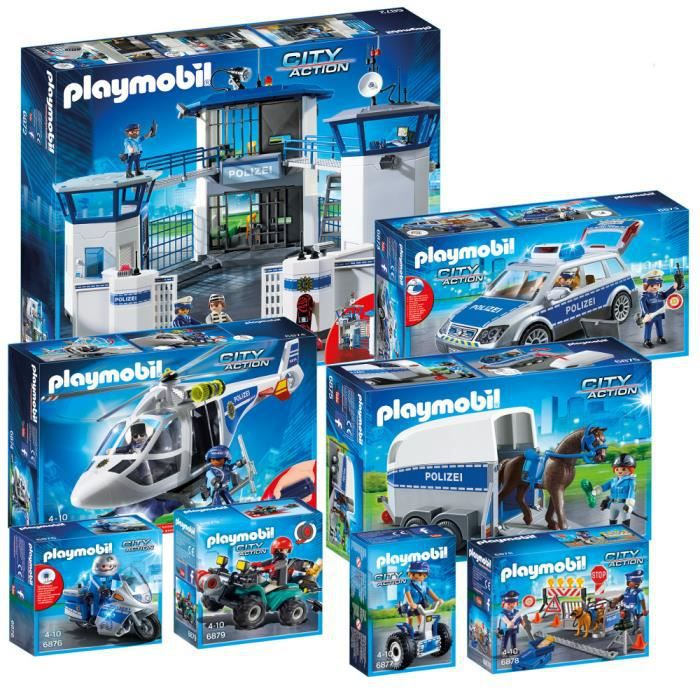 assemblage construction playmobil policiers 6872 6873 6874 6875 6876 6877 - Playmobil Policier