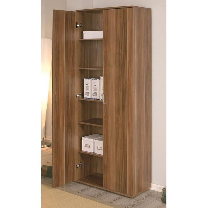 armoire de rangement 2 portes lupetta achat vente. Black Bedroom Furniture Sets. Home Design Ideas
