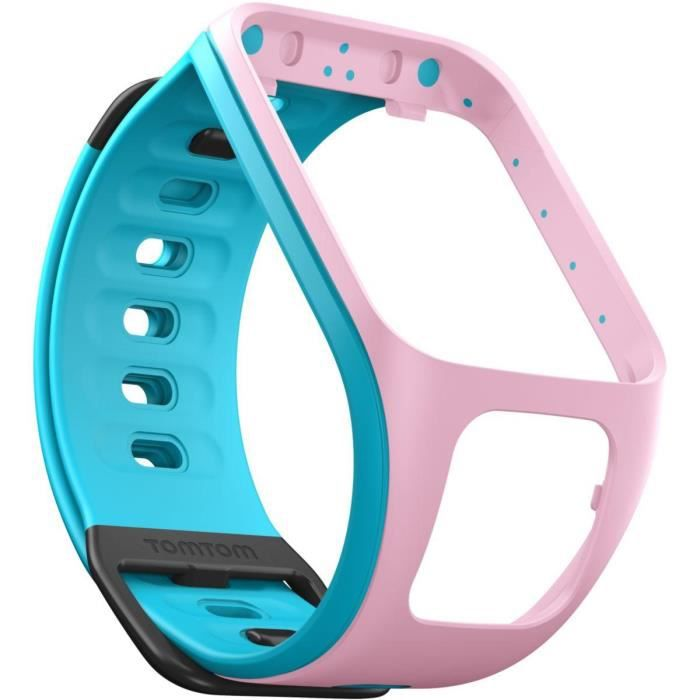 bracelet montre tomtom runner 2 rose turquoise fin achat vente bracelet de montre mixte. Black Bedroom Furniture Sets. Home Design Ideas
