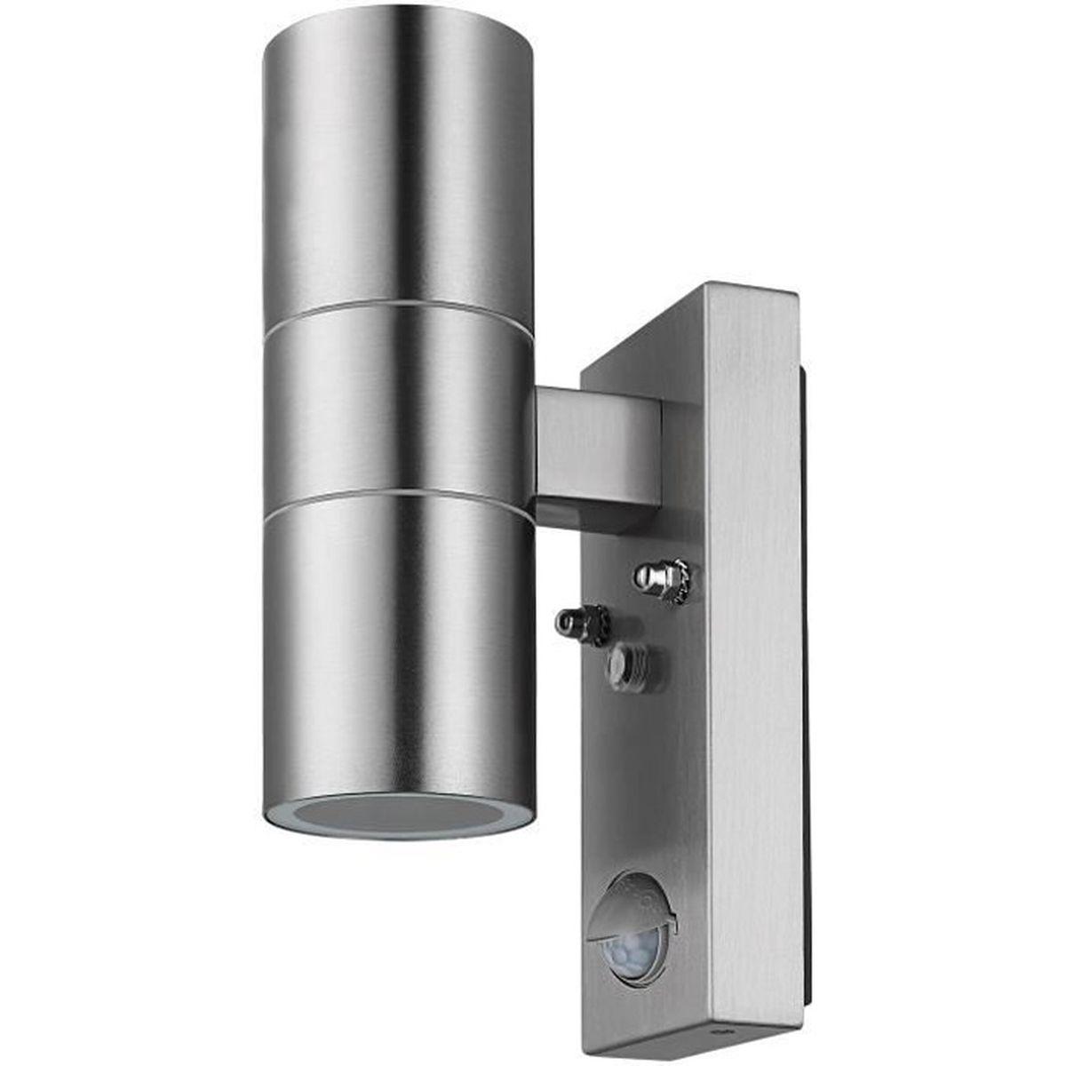 Lampe Exterieur Pour Tonnelle applique murale lampe extérieur max. 35w ip44 acier inoxydable détecteur de  mouvement éclairage pour chemin lumière jardin maison
