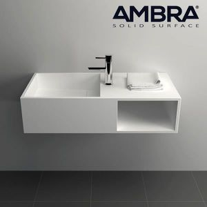 LAVABO - VASQUE Vasque 80 cm suspendue en solid surface -Ibiza Bla