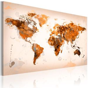 TABLEAU - TOILE Tableau  |  Map of the World  | 90x60 |  Cartes du