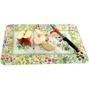 PLANCHE A DÉCOUPER Planche à découper en verre décor fruits Multicolo