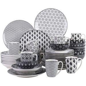 SERVICE COMPLET Vancasso HARUKA 40pcs Service de Table Porcelaline