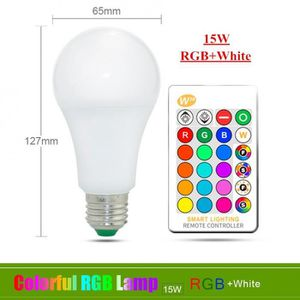 AMPOULE - LED Version E27 15W RGBW - 110v 220v E27 Ampoule Led R