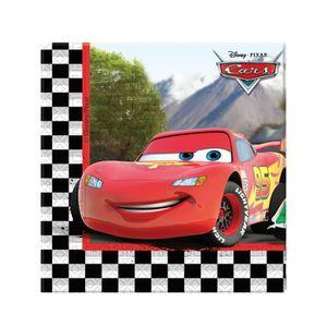 Disney cars serviettes garçons fête vaisselle papier carrées 33cm serviettes x20