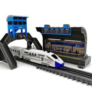 VOITURE - CAMION 86pcs Jouet de train à grande vitesse sur train de