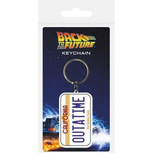 Retour vers le Futur porte-clés métal Time Machine 6 cm BTTF key ring 201042