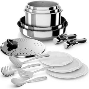 BATTERIE DE CUISINE Backen 199915 - Set de Poêles et Casseroles - Inox