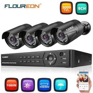 CAMÉRA DE SURVEILLANCE FLOUREON Kit Système de Vidéo Surveillance 5-EN-1